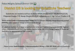 D128 Needs Substitute Teachers!