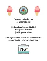 PFA Sponsored Ice Cream Social
