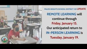 Remote Learning will Continue Through January 15