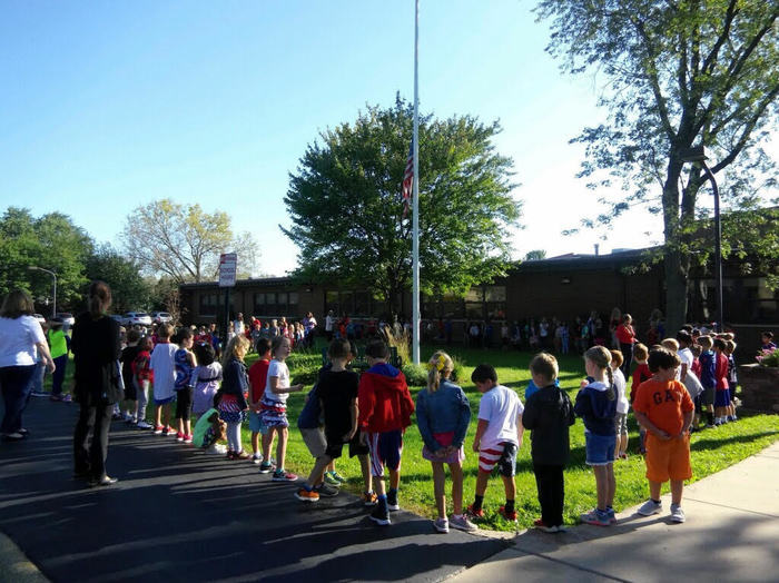 Patriot Day at Chippewa School, September 11, 2018