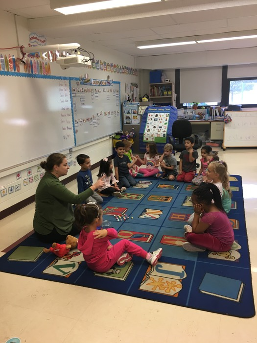 Kindergarten students demonstrate expert estimation skills with Ms. Laura