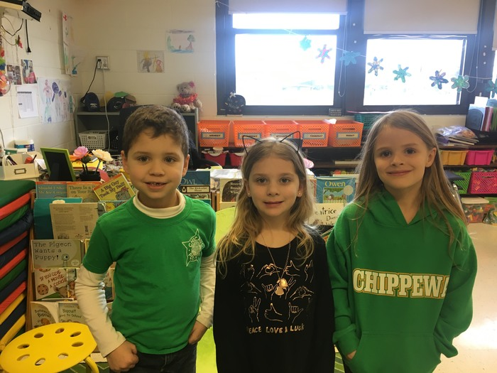 First Grade Students show their school spirit for kindness February!