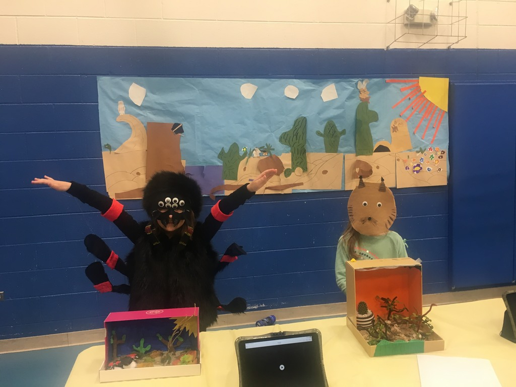 First Grade Students present their animal habitats.